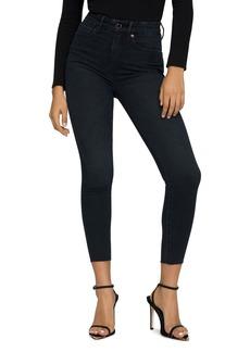Good American Good Waist Raw Edge Crop Skinny Jeans (B631)
