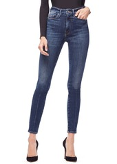 Good American Good Waist Ripped High Waist Skinny Jeans  (Regular & Plus Size)