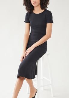 Good American Ribbed Midi Dress