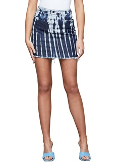 Good American Shibori Denim Miniskirt (Regular & Plus Size)