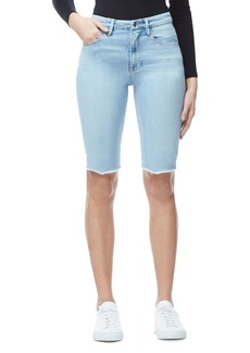 Good American The Bermuda Denim Shorts in Blue304