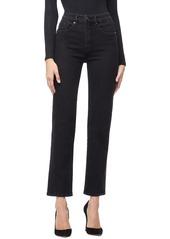 Good American Twist Seam Crop Straight Leg Jeans (Regular & Plus Size)