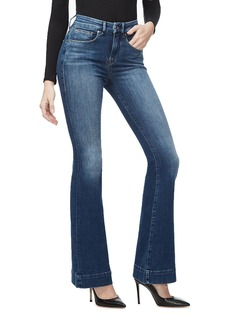 Good American Good Flare Jeans w/ Trouser Hem - Inclusive Sizing