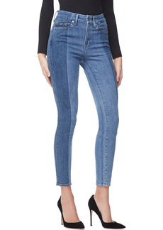 Good American Good Legs Crop Laser-Cut Jeans - Inclusive Sizing