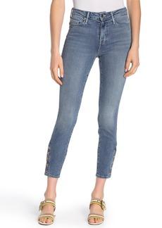 Good American Good Legs Crop Snap Hem Jeans