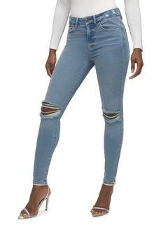 Good American Good Legs Distressed Crop Jeans - Inclusive Sizing