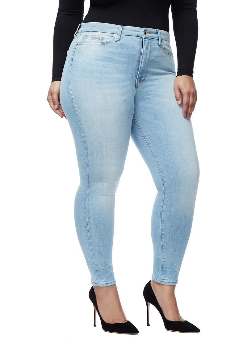 Good Legs High Waist Crop Skinny Jeans (Blue 261) (Regular & Plus Size)