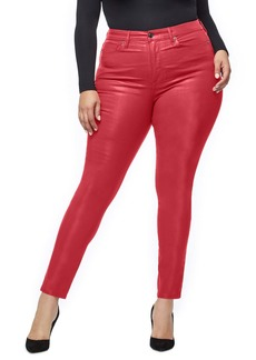 Good American Good Waist Coated High Waist Skinny Jeans