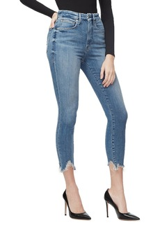 Good American Good Waist Crop Chewed-Hem Jeans - Inclusive Sizing