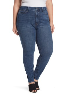 Good American Good Waist High Rise Skinny Jeans (Regular & Plus Size)