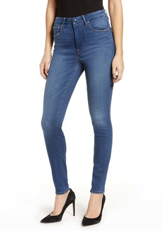 Good American Good Waist High Waist Skinny Jeans (Blue 228) (Regular & Plus Size)