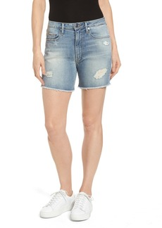 Good American High Waist Denim Cutoff Shorts (Regular & Plus Size)
