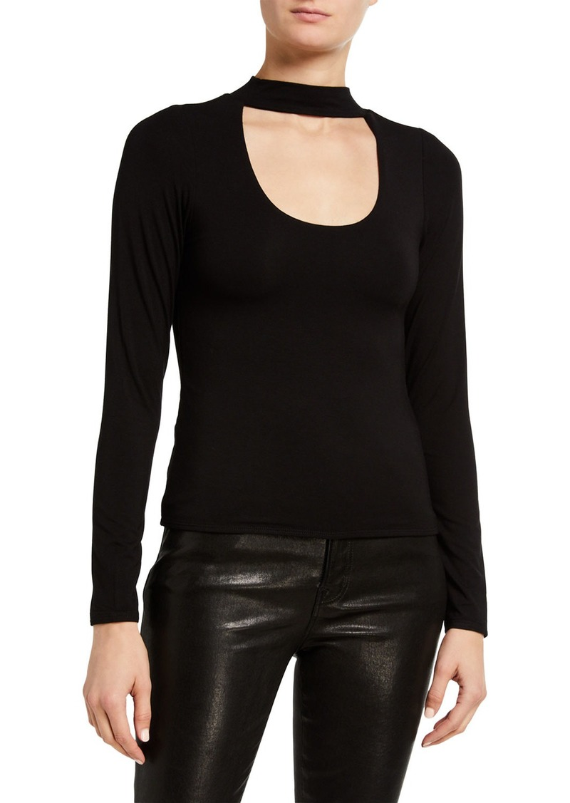 Good American Long-Sleeve Keyhole Top - Inclusive Sizing
