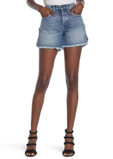 Good American The Lattice Cut Off Denim Shorts