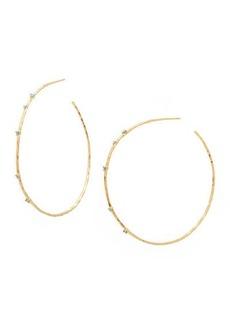 Gorjana Cleo Hoop Earrings w/ Stones