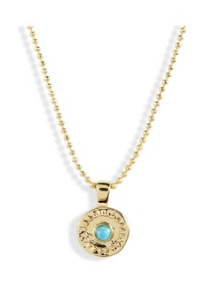 Gorjana Cruz Coin Pendant Necklace