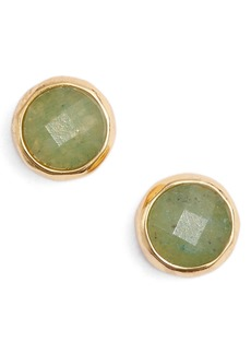 gorjana Aventurine Luck Stud Earrings