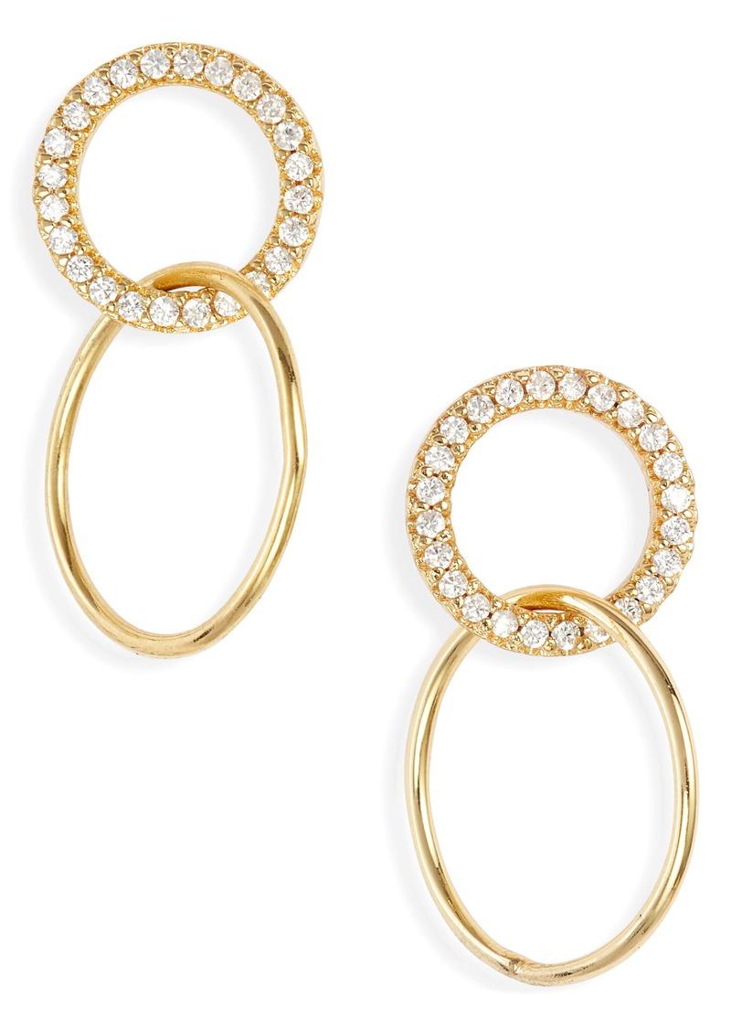 gorjana Balboa Shimmer Interlocking Hoops Drop Earrings