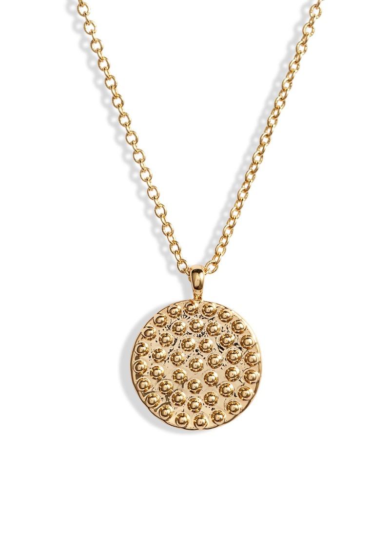 gorjana Bali Coin Pendant Necklace