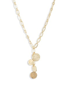 gorjana Banks Mixed Coin Y-Necklace