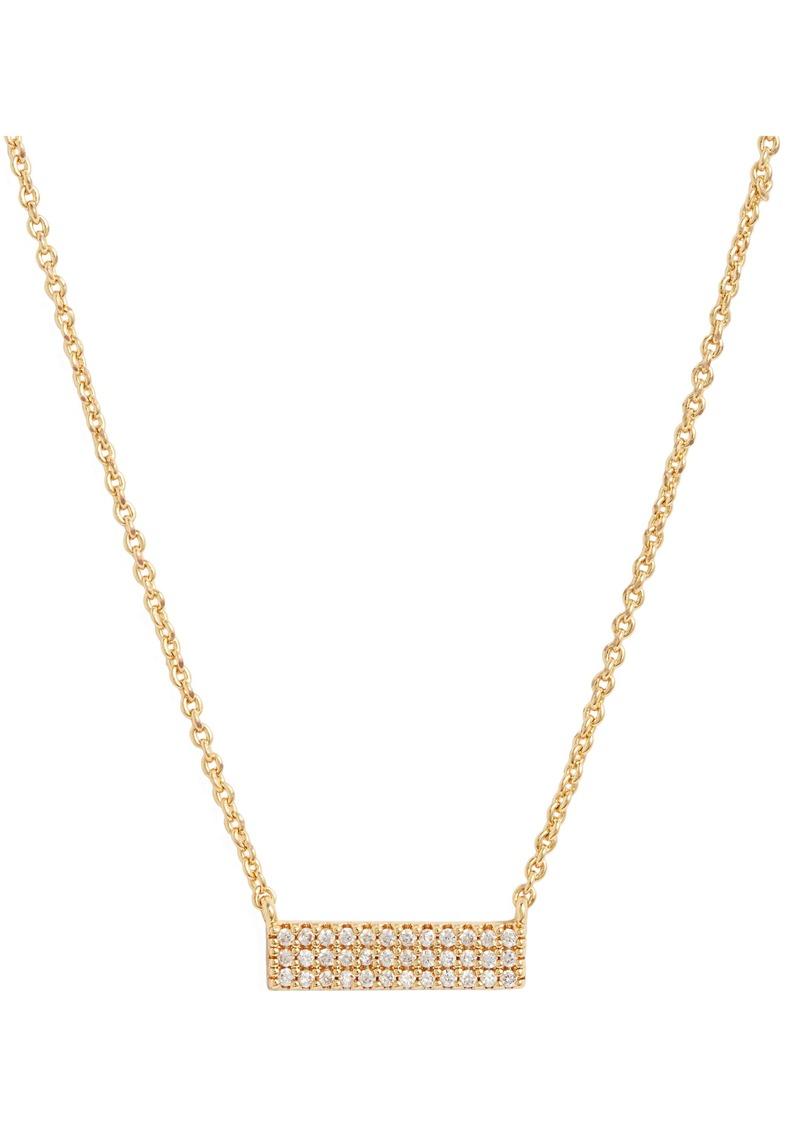 gorjana Blair Pavé Bar Necklace