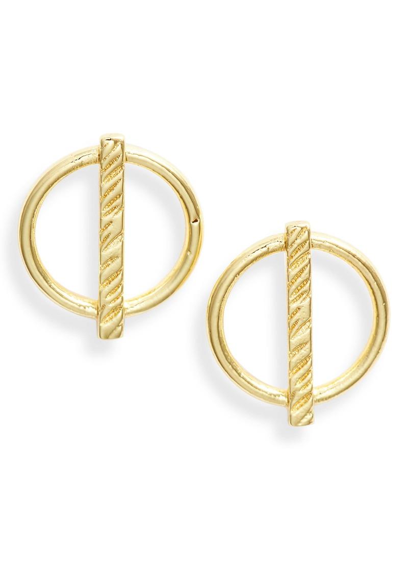 gorjana Bryce Circle Stud Earrings