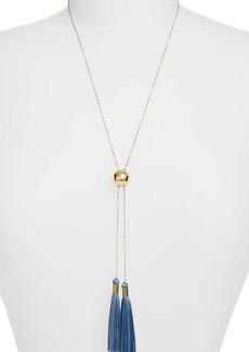 gorjana Carmen Tassel Adjustable Lariat Necklace