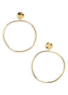 gorjana Chloe Frontal Hoop Earrings