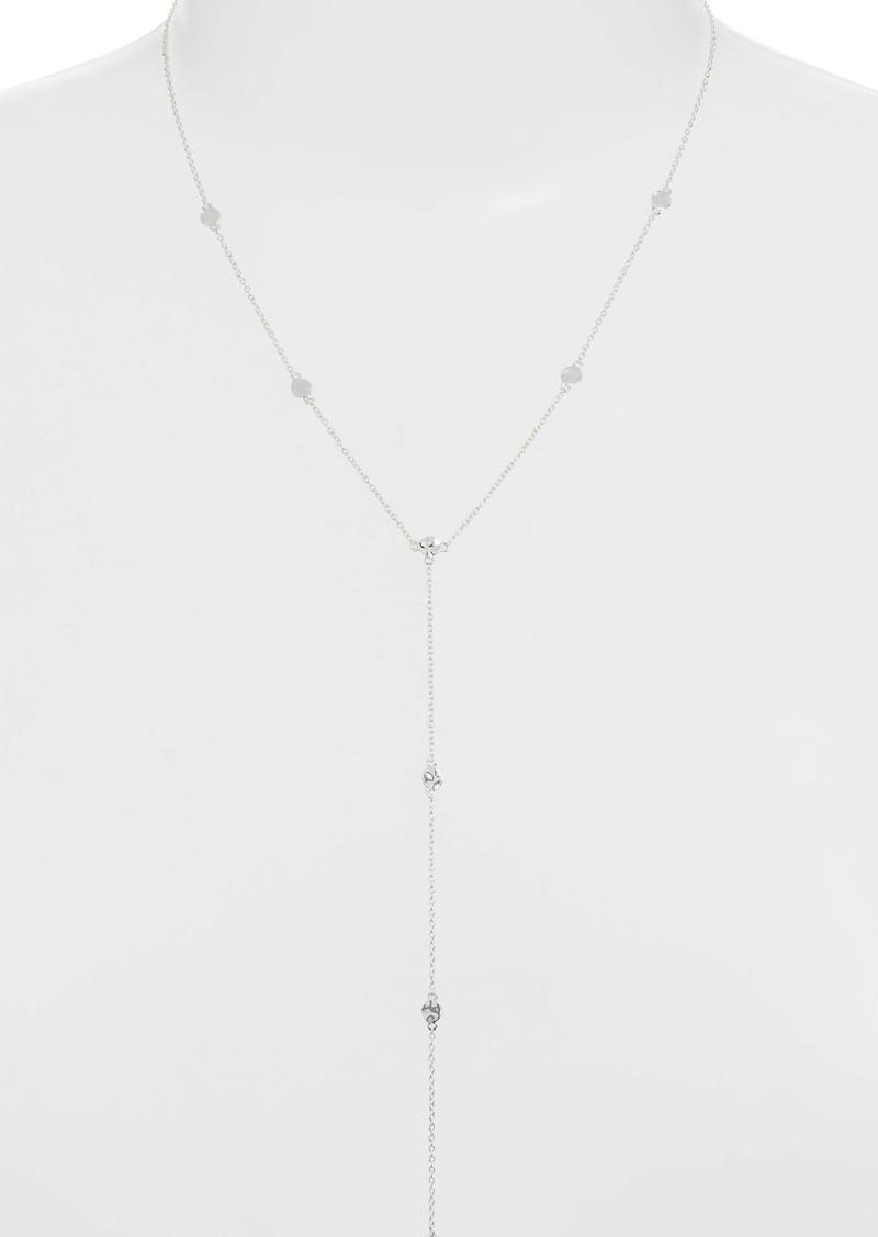 gorjana Chloe Short Lariat Long Necklace