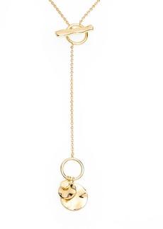 gorjana Chloe Small Hammered Disc Toggle Necklace