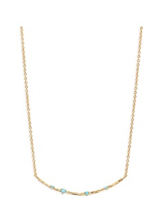 gorjana Cleo Stone Bar Pendant Necklace