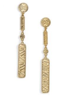 gorjana Cobra Linear Drop Earrings