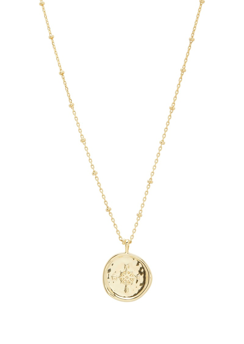 gorjana Compass Coin Pendant Necklace