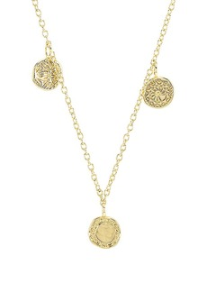 gorjana Cruz Mixed Coin Necklace