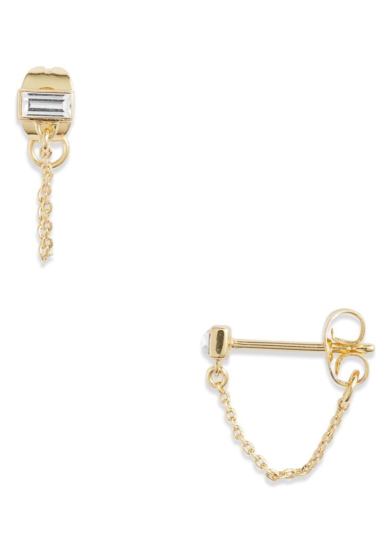 gorjana Desi Chain Stud Earrings