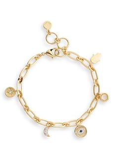 gorjana Evil Eye Charm Bracelet