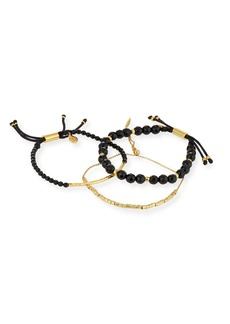 Gorjana Laguna Black Beaded Bracelets
