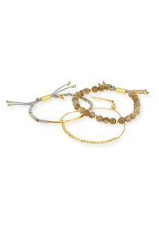 Gorjana Laguna Gray Beaded Bracelets