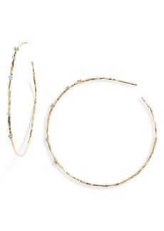 gorjana Large Cleo Stone Hoop Earrings