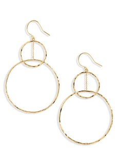 gorjana Linked Circle Drop Earrings