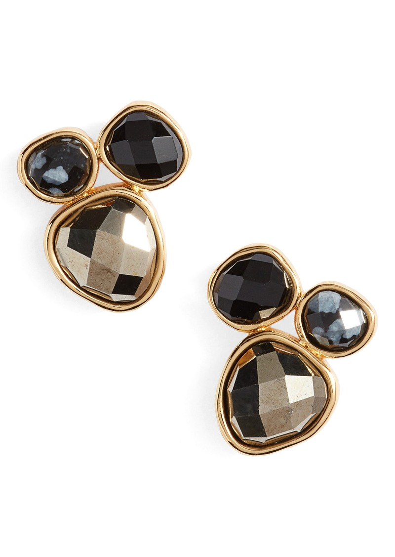 stone earrings semi geometric usjewelryhouse tqs precious stud products