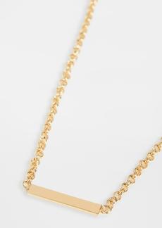 Gorjana Lou Tag Necklace