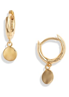gorjana Luca Disc Huggie Hoop Dangle Earrings