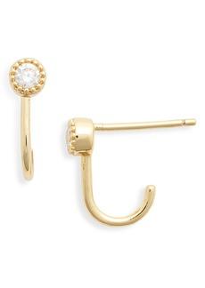 gorjana Madison Cubic Zirconia Huggie Hoop Earrings
