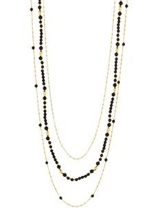 """Gorjana Makena Layered Stone Necklace, 19"""""""