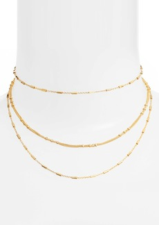 gorjana Margo Bar Layered Choker Necklace