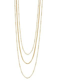 "Gorjana Margo Layered Chain Necklace, 31"""