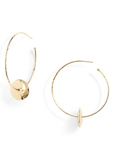 gorjana Marlow Hammered Disc Hoop Earrings