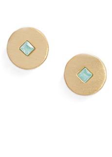 gorjana Maya Circle Stud Earrings