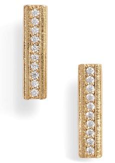 gorjana Nia Cubic Zirconia Bar Stud Earrings